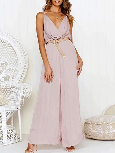 Slim and sexy halter Skater plain fashion jumpsuits
