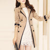 Retro Casual Slim Double-Breasted Trench Coat Outwear