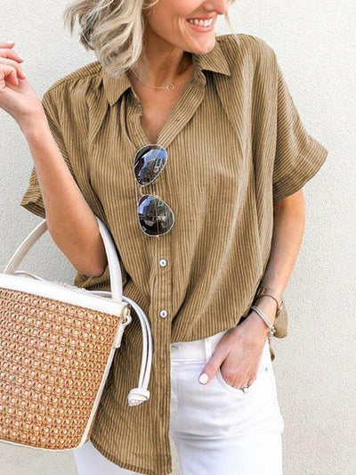 Casual Short sleeve large sizecasual loose Blouses