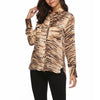 Fashion Printed Long Sleeve Pocket Casual Blouses