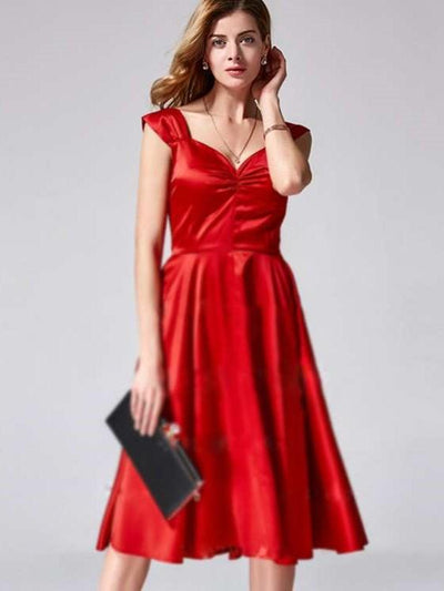 Fashion Skater V neck Evening Dresses