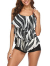 Large Size Pot Printed Sweet Woman Swimsuit Swimwear