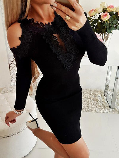 Sexy lace strapless backless Off Shoulder bodycon dresses