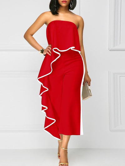 Sexy Off shoulder Loose pants Jumpsuits