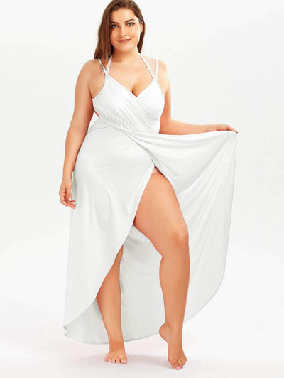 Fashion Summer Sexy Plus Cover up Vest Vacation Dresses