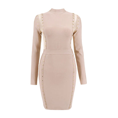 New Fashion Sexy Perspective Long sleeve Evening Bodycon Dresses
