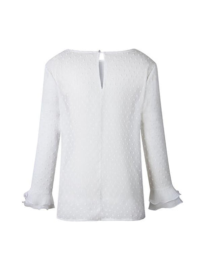 Fashion White Floral Lace Round Collar With Back Button