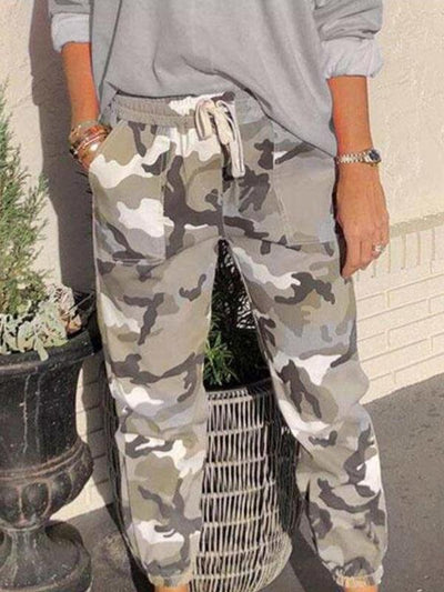 Camouflage printed casual women clothing loose long pants