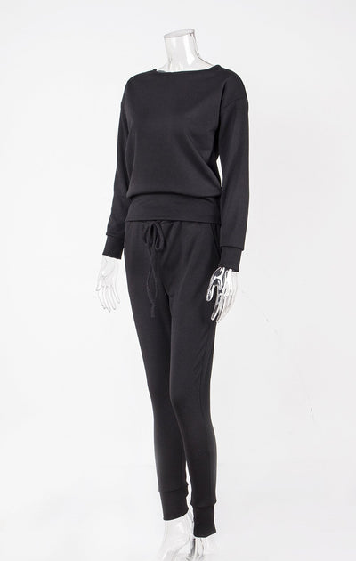 Women Casual Sport Round neck Suit