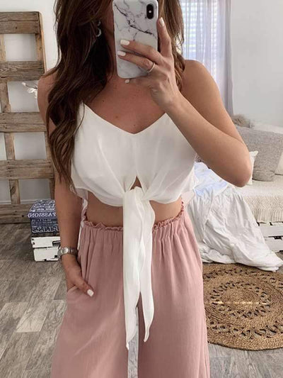Plus Size Solid color sexy halter top Women vests