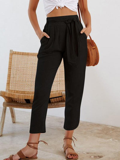 Women Fashion Casual Plain Pants