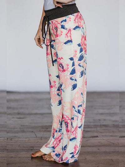 Fashionable loose fitting printed trousers Pants