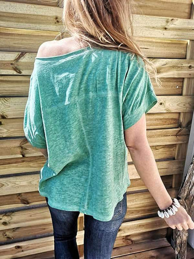 Casual Loose Summer Plain T-shirts