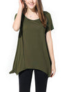 Plus Size Round Neck Woman Short Sleeve T-shirt