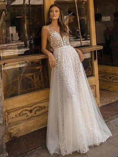 Sexy elegant v-neck see-through long maxi long party evening dresses