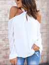 Band Collar Off Shoulder Fashion Woman Blouses