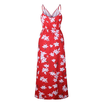 Fashion Floral Jumpsuits Skater Dresses
