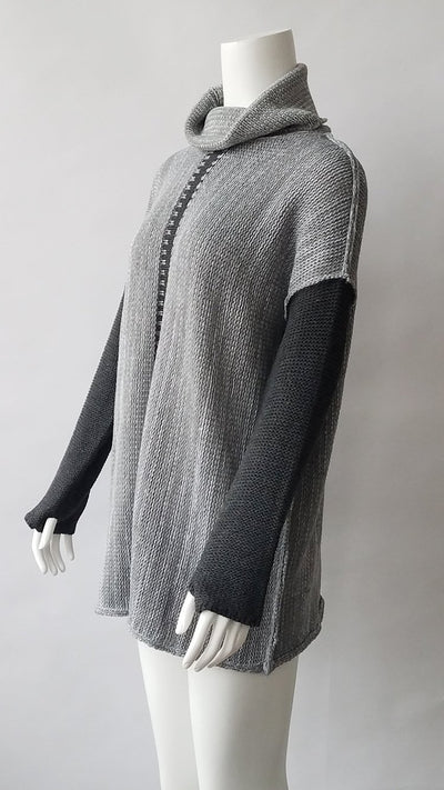 Women High collar Loose Knit Sweaters