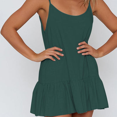 Sexy Pure Vest Shift Dresses