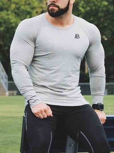 Multicolor Printed Fitness Long Sleeve T-Shirt