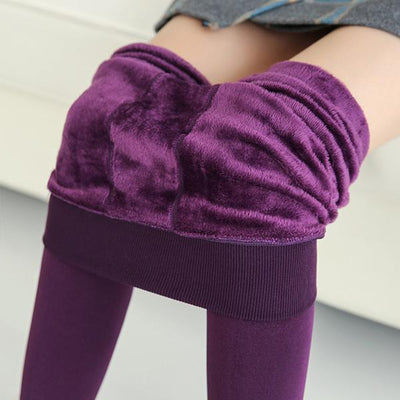 Autumn Winter Waist Support Cotton Velvet Seaweed Trample Feet Pants Render Pantyhose Thickening