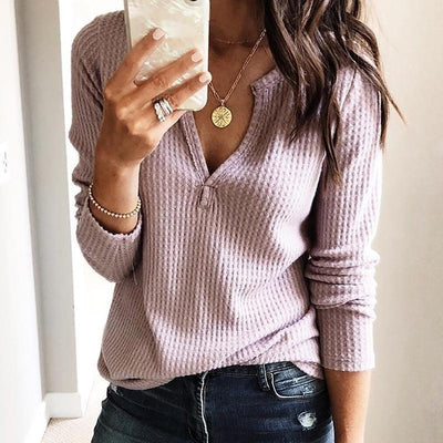 Fashion Knit Loose Women T-Shirts