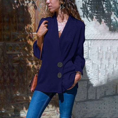 Pure Casual Lapel Long sleeve Blazer