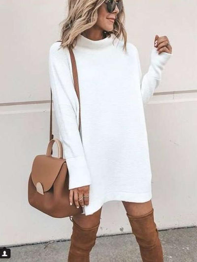 Fashion High collar Long sleeve Sweaters