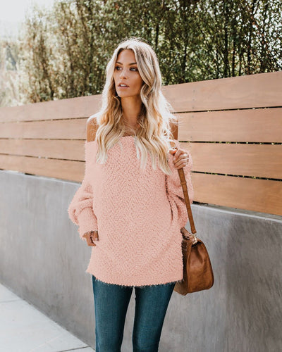 Fashion Pure Colour Long Sleeve Sweaters