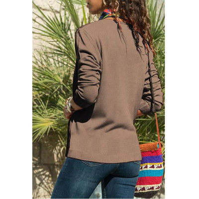 Fashion Long sleeve V neck Cardigan