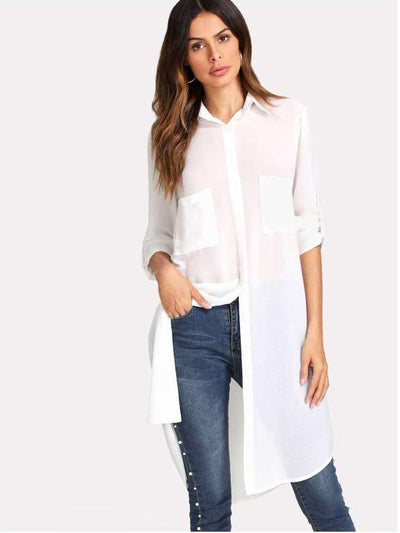 Fashion Pure Long Sunscreen Blouses