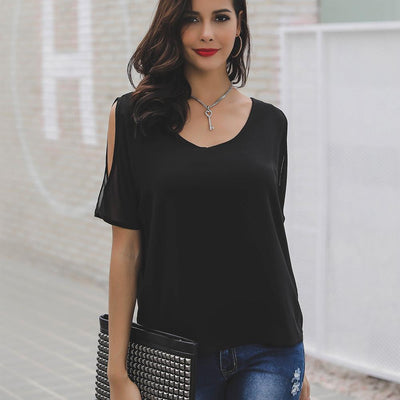 Sexy Off Shoulder Short Sleeve T-Shirts