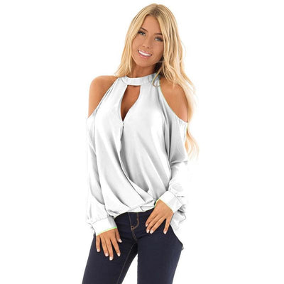 Women Off shoulder Long sleeve T-Shirts