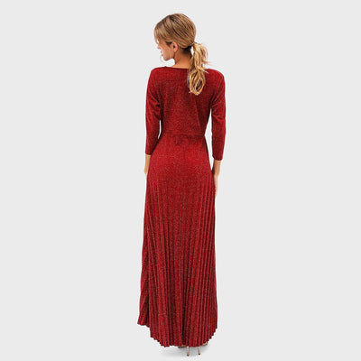 Fashion V-Neck Long-Sleeved Evening Dresses