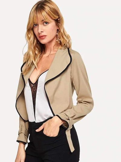 Fashion Pure V neck Cardigan Blazer