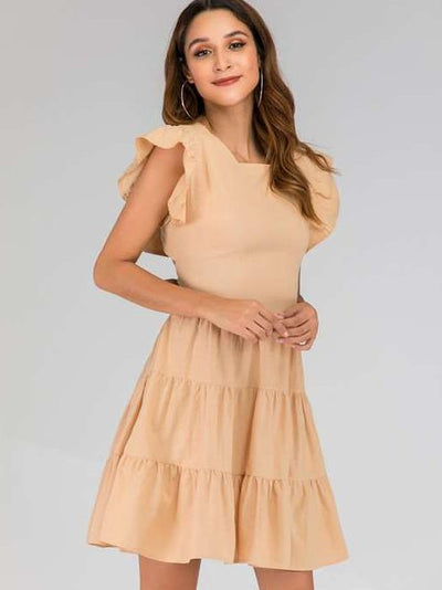 Fashion Backless Bowknot Skater Dresses