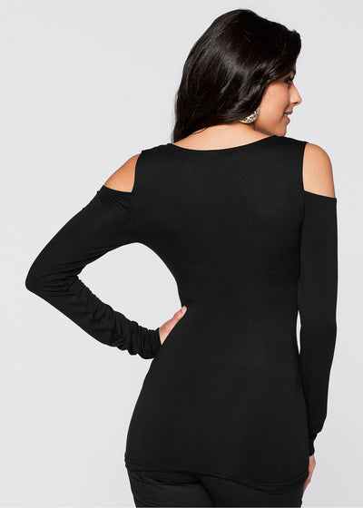 Sexy Off shoulder Long sleeve Elastic T-Shirts