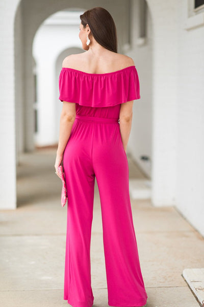 Off shoulder Loose Women Jumpsuits