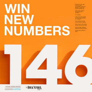 Modern House Number Giveaway