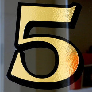 Easy install traditional house numbers in Gold by House Number Lab