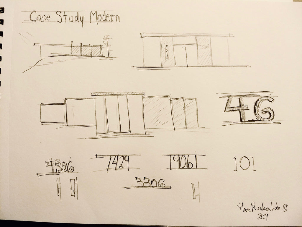 HNL Drawings for Case Study Modern House Number