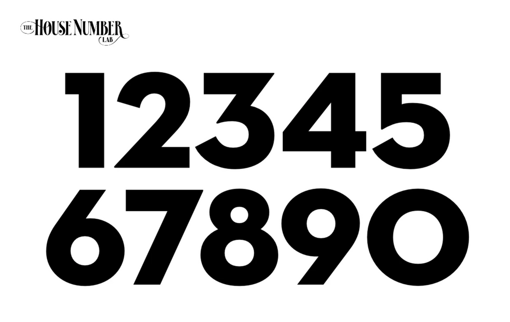 Case Study Modern House Number Font