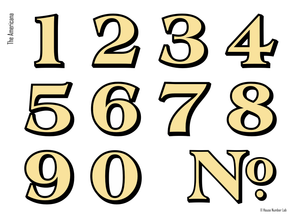 Gold transom address numbers for traditional homes by House Number Lab