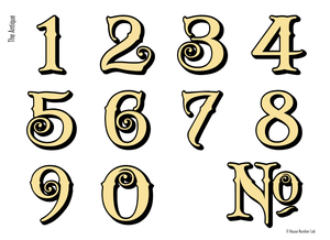 Traditional Victorian house numbers by House Number Lab - Antique Style