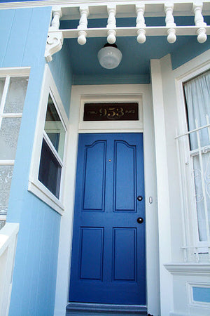 San Francisco gold transom address numbers by House Number Lab - customize and order online at housenumberlab.com
