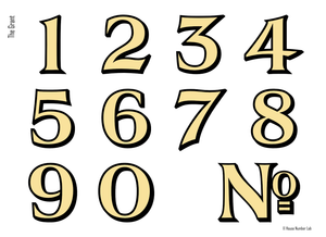 Transitional gold transom address numbers by House Number Lab - customize and order online at housenumberlab.com