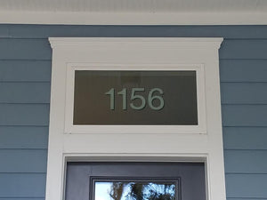 Modern address number in Helvetica by House Number Lab - Customer image - order online at housenumberlab.com
