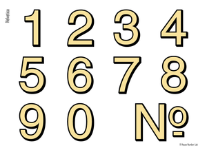 Modern address number in Helvetica by House Number Lab - order online at housenumberlab.com
