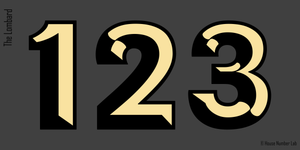 Beautiful transom house numbers in 22K gold leaf by House Number Lab, Lombard Style, Gold Leaf and Vinyl -  order online at housenumberlab.com