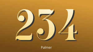 Gold leaf house numbers by House Number Lab - customize and order online at housenumberlab.com